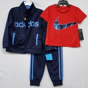 🆕️ Adidas Track Suit * Nike tee
